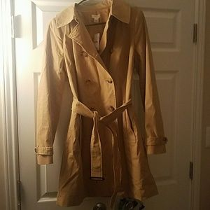 NWT J. Crew camel colored trench coat | sz 8